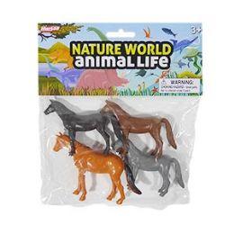 48 Units of Nature World Horses - 4 Piece Set - Action Figures & Robots