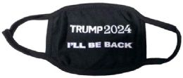 24 Units of Trump 2024 I'll Be Back Face Cover - Face Mask
