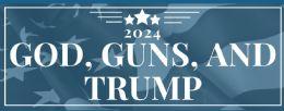 96 Wholesale God Guns Trump 2024 Bumper Stickers