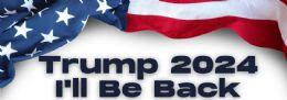 96 Wholesale Trump 2024 I Will Be Back Bumper Stickers