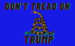 120 Wholesale Don't Tread On Trump Blue Bumper Sticker