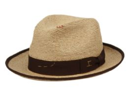 2 Wholesale Morreton Vintage Raffia Straw Fedora Hat