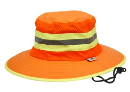 12 Wholesale Outdoor Camping Mesh Crown Bucket Hat