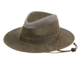 12 Wholesale Outdoor Safari Hats W/partial Mesh Crown