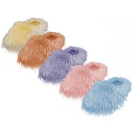 36 of Women's Hairy Plush Upper Close Toe Comfy House Slippers