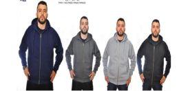 12 Units of Men's Full Zip Heavy Weight Fleece - Mens Sweat Shirt