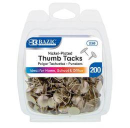 24 Units of Thumb Tack Silver 200pk - School Supplies