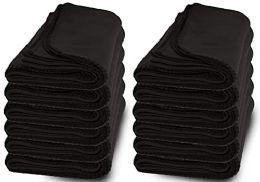 6 Bulk Yacht & Smith 60x90 Fleece Blanket, Soft Warm Compact Travel Blanket, Black