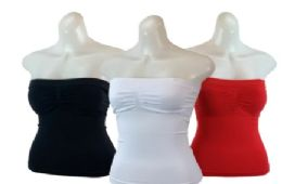 48 Units of Ladies' Seamless Camisole With Padding - Womens Camisoles & Tank Tops