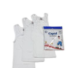 48 Units of Boy's White T-Shirt - Boys Underwear