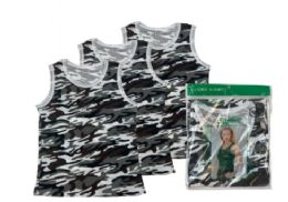 48 Units of Ladies' Camouflage A-Shirt - Womens Camisoles & Tank Tops