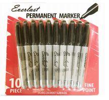 120 Bulk Everlast Permanent Marker 10 Pack Black