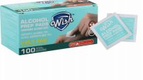 48 Units of Wish Alcohol Prep Pads 100 Pack - Hygiene Gear