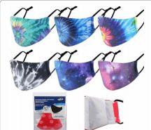 96 Units of Reusable Cloth Mask Tye Dye - Face Mask
