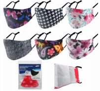 96 Units of Reusable Cloth Mask Flowers - Face Mask