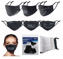 96 Units of Reusable Cloth Mask Words - Face Mask