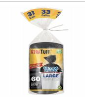 924 Units of Xtratuff Trash Bags Large 33 Gallon 60 Count - Garbage & Storage Bags