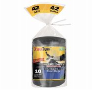 24 Units of Xtratuff Trash Bags Contractor 42 Gallon 10 Count - Garbage & Storage Bags