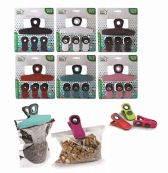 48 Wholesale Ideal Home Bag Clip Set With Magnet 4 Pack