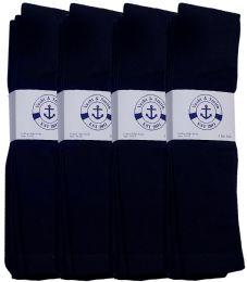 24 Units of Yacht & Smith Men's Navy Cotton Terry Tube Socks,30 Inch Long Athletic Tube Socks, Size 10-13 - Mens Tube Sock
