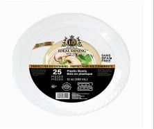 72 of Ideal Dining Plastic Bowl 12 Inch White 25 Count