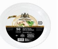48 of Ideal Dining Plastic Bowl 12 Inch White 50 Count