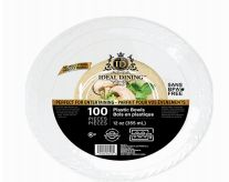24 of Ideal Dining Plastic Bowl 12 Inch White 100 Count