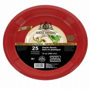 96 of Ideal Dining Plastic Bowl 12 Inch Red 25 Count