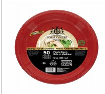 48 of Ideal Dining Plastic Bowl 12 Inch Red 50 Count