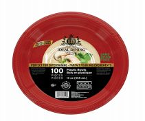 24 of Ideal Dining Plastic Bowl 12 Inch Red 100 Count