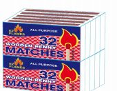 96 Units of Ez Flames Wooden Penny Matches 10 Pack 32 Count - BBQ supplies