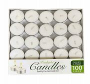 12 Bulk Candle Tealight 100 Pack Box