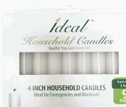 72 Bulk Ideal Taper Candles 4 Inch 9 Pack