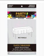 96 Wholesale Table Cover Rectangle White Heavy Duty