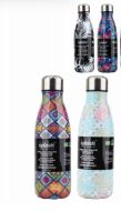 24 Units of Splash Bottle Stainless Steel 16.9 Printed - Drinking Water Bottle