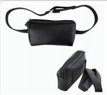 48 Units of Cc Fanny Pack Leather Black Rectangle - Fanny Pack