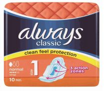 48 Units of Always Classic Normal 10 Wings Orange - Personal Care