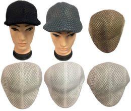 36 Wholesale Mesh Golf Hat Solid Color