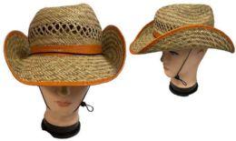 24 Wholesale Cowboy Style Straw Hat