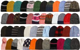 384 Units of Yacht & Smith Winter Hat Beanies For Adults Mixed Colors And Styles Assortment Unisex - Winter Gear