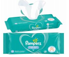 48 Wholesale Pampers Wipes 52 Count Fresh Clean