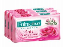 48 Units of Palmolive Bar Soap 80g 3 Pack Soft And Moisture Pink - Soap & Body Wash