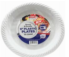 48 of Plastic Plate Microwaveable 9 Inch 25 Count