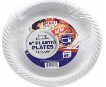 24 of Plastic Plate Microwaveable White 7 Inch 50 Count