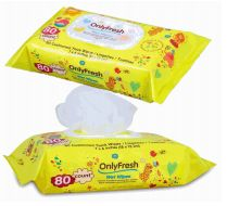 48 Wholesale Only Fresh Wipes 80 Count With Lid Yellow