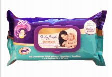 48 Wholesale Only Fresh Wipes 80 Count With Lid Original