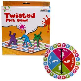 12 Units of Game Twisted Mat W/spinner - Toys & Games