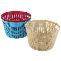 48 Units of Basket Round 4 Colors In Pdq 10.6 X 6.2   ST-3940 - Baskets
