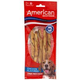 24 of Dog Treats Chicken Flavor 5pk 5in Twistedz Sticks