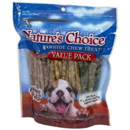 12 of Dog Treats Rawhide 100pk 5 Inch